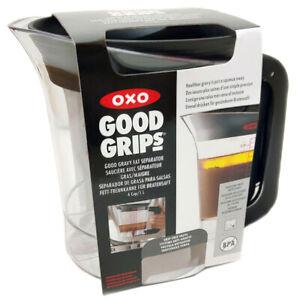 OXO Fat Separator for Gravy Soups & Sauces Good Grips 1 Litre Strainer Jug