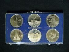 NASA PROJECT MERCURY 1960'S COMMEMORATIVE COIN SET GLENN, SCHIRRA, SHEPARD, GRIS