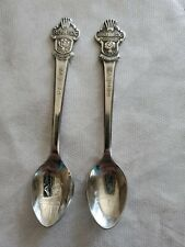 2 ROLEX spoons Bucherer of Switzerland Souvenir Spoon Lugano, Geneve, Butcherer