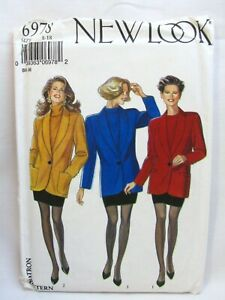 New Look 6978 Misses Fitted Jacket and Skirt Sewing Pattern Sizes 8 to 18 Uncut