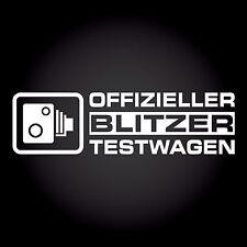 Offizieller Blitzer Testwagen Auto Aufkleber Sticker Decal JDM OEM 19,0 x 5,3 cm