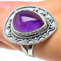 Large Amethyst 925 Sterling Silver Ring Size 7.75 Ana Co Jewelry R29462F