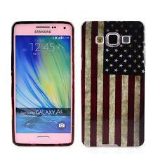 TPU Case f. Samsung Galaxy A5 (2015) Schutzhülle Tasche Cover USA Amerika Flagge