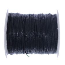 10 Metros Negro algodón encerado, Cable De 1mm la fabricación de joyas Encordar Hilo Artesanales
