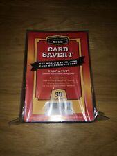 More details for 50x card saver 1 semi rigid card holders. cardboard gold cbg