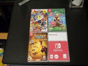 Lot Of 4 Switch Games  Bomberman Soldan Rayman Legends Yooka Laylee Impossible