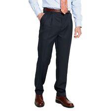 Croft Barrow Mens Dress Pants Classic Fit Pleated Microfiber size 36 38 40 NEW