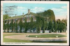 CHARLEVOIX MI Chicago Club Clubhouse Vintage 1933 Michigan Postcard