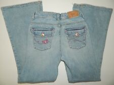 OSHKOSH girls Light Blue DENIM Pink Stitch Pocket JEANS* 10
