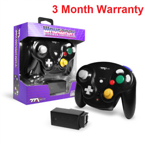 Gamecube Wireless Wavedash 2.4GHZ Controller Black TTX Tech WAVEDASH