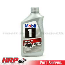 "Mobil 1-4T-Motorcycle ""Racing"" Oil-Full Synthetic-1 Quart-10W-40"
