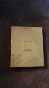 Vintage Pygmalion Powder Compact Gold coloured Rectangular Art  Deco
