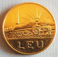 Romania 1966 1 Leu Gold Plated Coin Makes a Terrific Gift