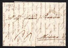 PREFILATELICA LOMBARDO VENETO 1808 da Milano a Modena.