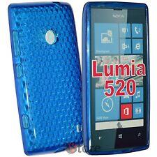 Cover For Nokia Lumia 520 Blue Gel silicone TPU silicone