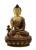Estatua Tibetano Buda Ratnasambhava Cobre Y Oro Nepal Buda AFR8-4888