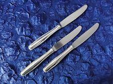WELLNER Art-Deko Design - 3 Menümesser / Messer - 21 cm - Silber-90 (P87