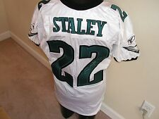 PHILADEPHIA EAGLES DUCE STALEY SIGNED GAME USED/WORN JERSEY COA MMA