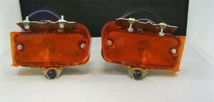 1967 67 Chevy Chevelle El Camino Parking Lamp Light Assembly AMBER PAIR SET