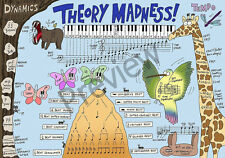 Music Theory Poster 'Theory Madness!' (Size A2)