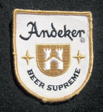 "ANDEKER BEER SUPREME EMBROIDERED SEW ON  ONLY PATCH ALE ADVERTISING 3"" x 3 1/2"""