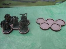 6 Skirmish Movement Trays 5x32mm Round Bases Wargames Cloud Olympic Ring Design