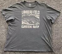 '47 Green Bay Packers 'Lambeau Field' Men's T-Shirt Size 2XL Gray