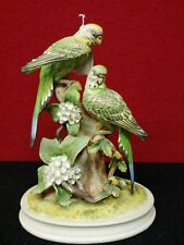 """Vintage Andrea by Sadek """"Group Of Parakeets"""" 8"""" x 5"""" x 11"""" Tall."""