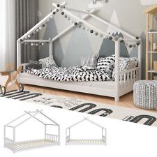 VITALISPA Kinderbett Hausbett DESIGN 90x200cm Kinder Bett Holz Haus Hausbett