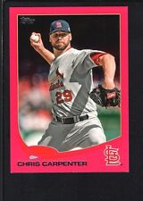 CHRIS CARPENTER 2013 TOPPS MINI #631 PINK PARALLEL CARDINALS SP #21/25