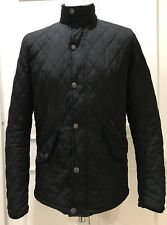 MENS SMALL QUILTED BLACK JACKET BY EASY APPAREL