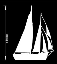 Sailboat - Car Decal (Choose your color!) Premium cutout vinyl decal