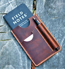 Handmade Cover NOTO Wallet Field Notes Sleeve Leather Sunset Oil Tan Cream