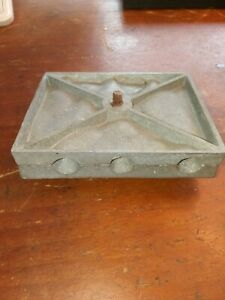 Vintage Lead Sinker Fishing Weight Mold - Unmarked - 6 Sizes
