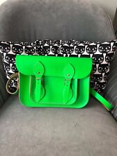 The Cambridge Satchel Company 11 inch Green Leather Satchel Bag