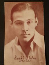 "Rare Posted 1925 Actror RPPC Rudolph Valentino, ""The Shiek"""