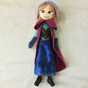 Frozen Disney Anna Doll Stuffed Cloth Dolls Cartoon Classic Collectible Toy Used