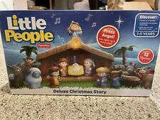 Fisher-Price Little People Deluxe-A Christmas Story Nativity Scene Playset w/Box