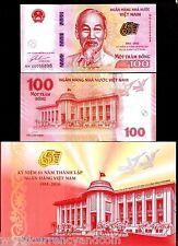 VIETNAM 100 DONG New 1951-2016 Commemorative 65th UNC Folder + MONEY BANK NOTE