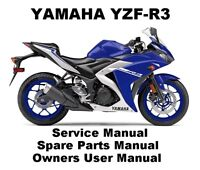 YAMAHA YZF R3 320 Owners Service Workshop Repair Parts Manual PDF on CDR R25 250