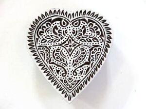 1972 Indischer Holzstempel Ying Yang Tattoo Stempel Motivstempel Nr