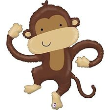 "XL 40"" Brown Monkey Linky Shapes Mylar Foil Balloon Party Decoration"