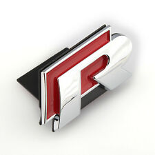 Decal Grill Logo Front Chrome Red R Line Badge Emblem For VW Golf Jetta Passat