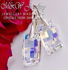 925 STERLING SILVER EARRINGS URBAN CRYSTAL AB 20MM CRYSTALS FROM SWAROVSKI®