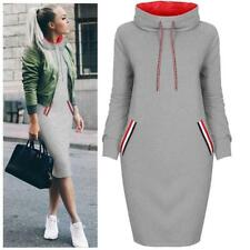 Women Long Sleeve Winter Dress Casual Hoodies Sweatshirts Pullover Jumper Tops G