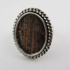 10pcs Vtg Silver Tone Alloy Oval Cameo Setting 18*13mm Ring Base Finding 37599