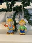 Bob The Builder Bob And Wendy Christmas Ornaments 3 Inches Tall