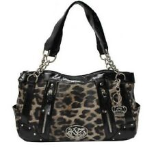((NEW IN PACKAGE)) Kathy Van Zeeland Handbag Purse Satchel Natural Leopard Bag