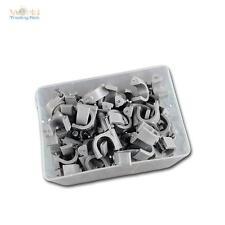 100 Kabelschellen grau, für Kabel max Ø12mm Kabelschelle Nagelschellen Nagelclip
