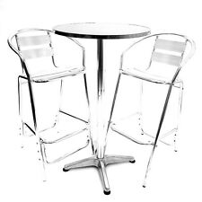 Aluminium High Poseur Table & Bar Stools Set Bar Furniture Cocktail Table